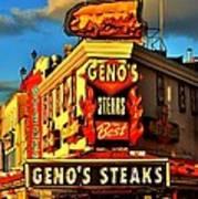 Geno's Art Print