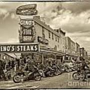 Geno's With Cycles Print by Jack Paolini