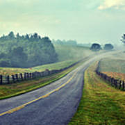 Gentle Morning - Blue Ridge Parkway II Art Print