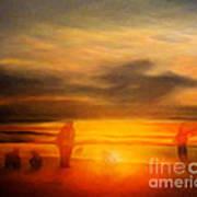 Gentle Sunset Vision Art Print