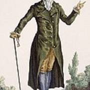 Gentleman In Green Coat, Plate Art Print