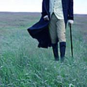 Gentleman Walking In The Country Art Print