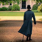 Gentleman Walking Towards A House Art Print