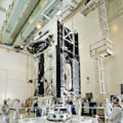 Geo-1 Satellite In Lab Art Print
