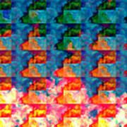 Geometric Cloud Cover Art Print