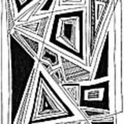 Geometric Doodle 2 Print by Sarah Loft