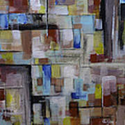 Geometric Modern Painting Original On Canvas Art Print