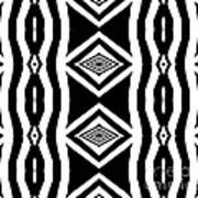 Geometric Pattern Abstract Black White Art No.339. Art Print by Drinka Mercep
