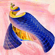 Geometric Shell Art Art Print by Deborah Benoit