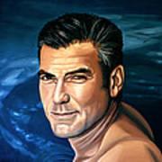 George Clooney 2 Art Print by Paul Meijering