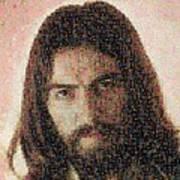 George Harrison Mosaic Image 1 Art Print