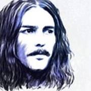 George Harrison Portrait Art Print by Wu Wei