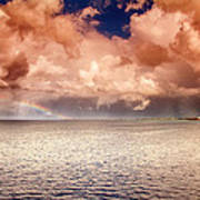 George Town-grand Cayman Rainbow After The Storm Art Print