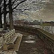 George Washington Bridge From Fort Tryon Art Print