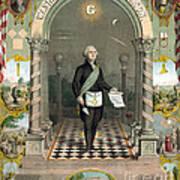 George Washington Freemason Art Print