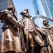George Washington-robert Morris-hyam Salomon Memorial Statue Art Print
