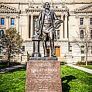 George Washington Statue Indianapolis Indiana Statehouse Art Print