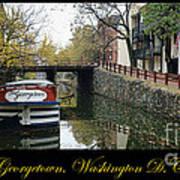 Georgetown Canal Poster Art Print