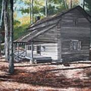 Georgia Cabin In The Woods Art Print