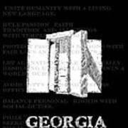 Georgia Guidestones Movie Poster Art Print