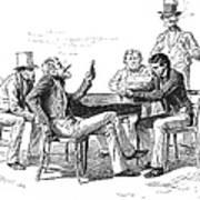Georgia: Poker Game, 1840s Art Print