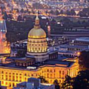 Georgia State Capitol At Night Art Print
