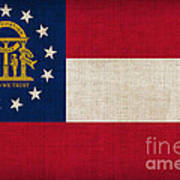 Georgia State Flag Art Print