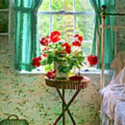 Geraniums In The Bedroom Art Print