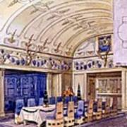 German Dining Hall, Early 20th Century Art Print