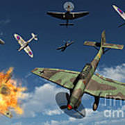 German Ju 87 Stuka Dive Bombers Art Print