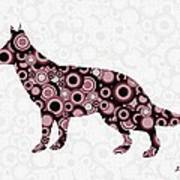 German Shepherd - Animal Art Art Print