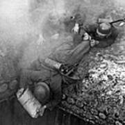 German Soldiers Launch A Suprise Attack On Bunker 17. Art Print