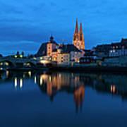 Germany, Bavaria, Regensburg, View Of Art Print