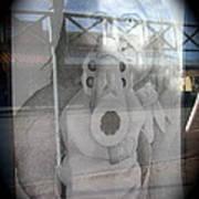 Geronimo Aiming Rifle Poster Window Tombstone Arizona 2005 Art Print