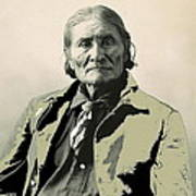 Geronimo As Photographed By A. Rinehart Omaha Nebrasks  1898-2013.  Art Print