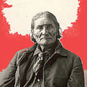 Geronimo Portrait R. Rinehart Photo Omaha Nebraska 1898-2013 Art Print
