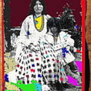 Geronimo's Wife Ta-ayz-slath And Child Unknown Date Collage 2012 Art Print
