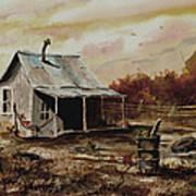 Gettin' The Yard Work Done Print by Sam Sidders