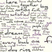 Gettysburg Address And I Have A Dream Art Print by David Bearden