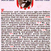 Gettysburg Address By Abraham Lincoln  Art Print