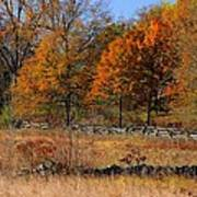 Gettysburg At Rest - Autumn Looking Towards The J. Weikert Farm Art Print
