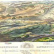 Gettysburg Battlefield 1863 Art Print