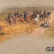Gettysburg Cyclorama Detail Pickett's Charge  Art Print