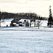 Gettysburg Farm In The Snow Art Print