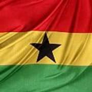 Ghana Flag Art Print