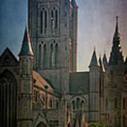 Ghent Skyline Art Print