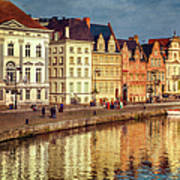 Ghent Waterfront Art Print