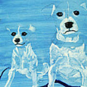 Ghost Dogs Art Print