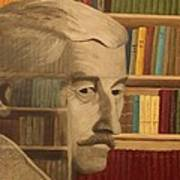 Ghost In The Library  William Faulkner Art Print by Patrick Kelly