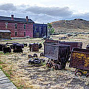 Ghost Mining Town Of Montana Art Print